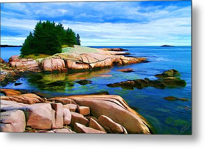 Rocky Point At Great Waas Metal Print by Bill Caldwell -        ABeautifulSky Photography