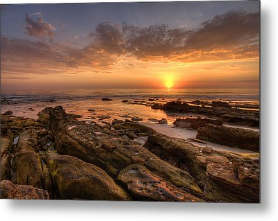 Rocky Sunset Metal Print by Peter Tellone