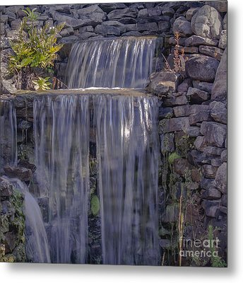 Rocky Waterfall Metal Print by Michael Waters