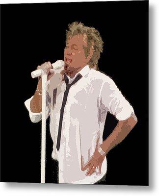 Rod Stewart In Concert Metal Print by Melinda Saminski
