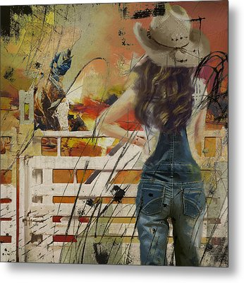 Rodeo 003 Metal Print by Corporate Art Task Force