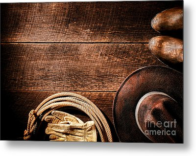 Rodeo Background Metal Print by Olivier Le Queinec