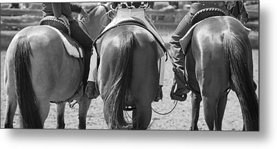 Rodeo Bums Metal Print by Michelle Wrighton