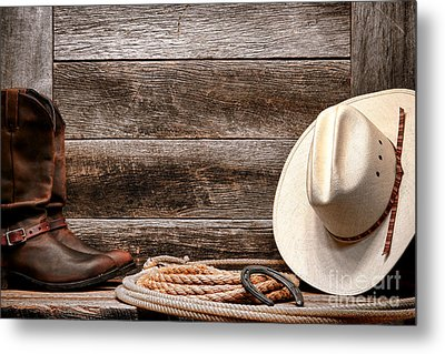 Rodeo Still Life Metal Print by Olivier Le Queinec
