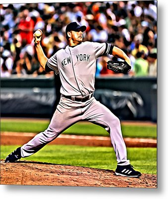 Roger Clemens Painting Metal Print by Florian Rodarte
