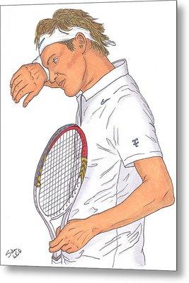 Roger Federer Metal Print by Steven White