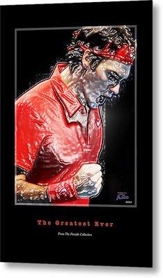 Roger Federer  The Greatest Ever Metal Print by Joe Paradis