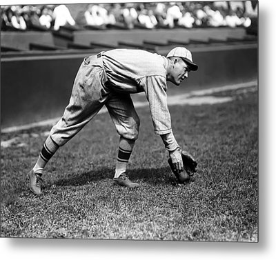 Rogers Hornsby Fielding Practice Metal Print by Retro Images Archive