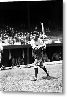 Rogers Hornsby Warm Up Swings Metal Print by Retro Images Archive