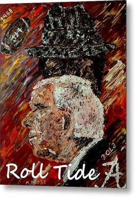 Roll Tide With Bear Bryant And Mal Moore  Metal Print by Mark Moore