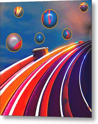 Rollerball Metal Print by Wendy J St Christopher