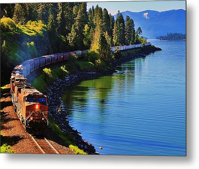 Rollin' Round The Bend Metal Print by Benjamin Yeager