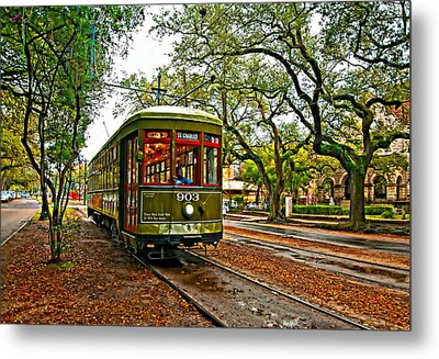 Rollin' Thru New Orleans Painted Metal Print by Steve Harrington