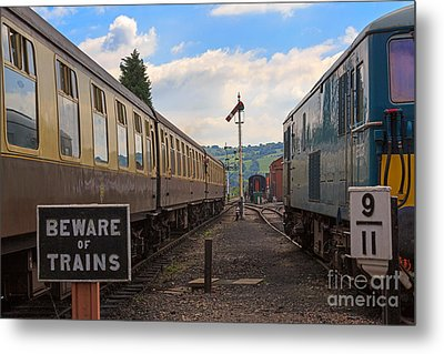 Rolling Stock Of The Gloucestershire Warwickshire Railway Metal Print by Louise Heusinkveld