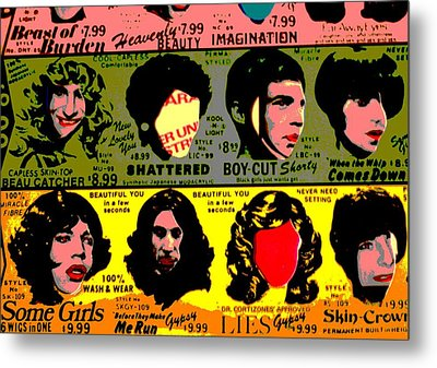 Rolling Stones Pop Art Metal Print by Dan Sproul
