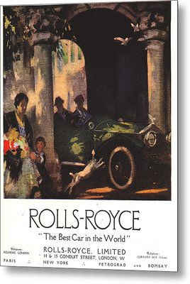 Rolls-royce 1917 1910s Uk  Cars Metal Print by The Advertising Archives