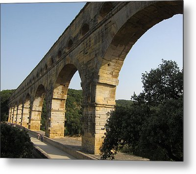 Roman Aqueduct Metal Print by Pema Hou