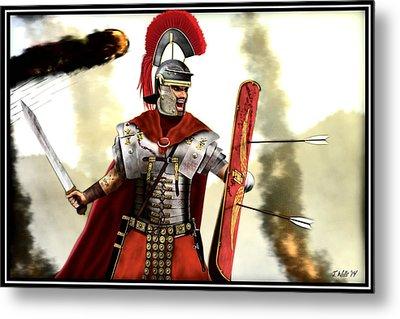 Roman Centurion Metal Print by John Wills