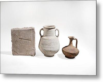 Roman Ceramics Metal Print by Science Photo Library
