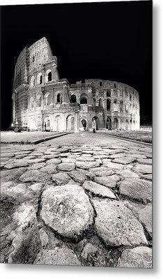 Rome Colloseum Metal Print by Nina Papiorek