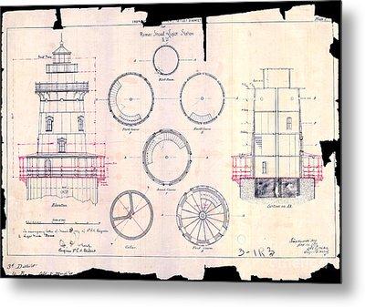Romer Shoal Light Station Circa 1838 Metal Print by Jon Neidert