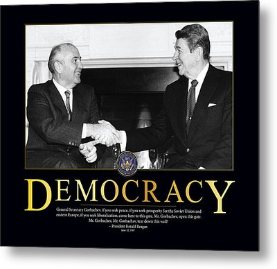 Ronald Reagan Democracy  Metal Print by Retro Images Archive
