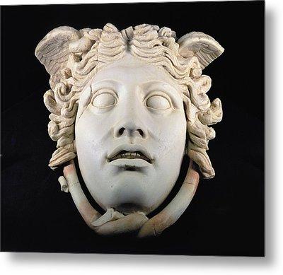 Rondanini Medusa, Copy Of A 5th Century Bc Greek Marble Original, Roman Plaster Metal Print by .