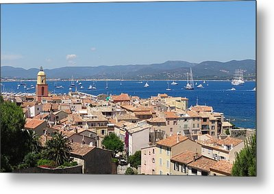 rooftops of St-Tropez Metal Print by Solange Rhode
