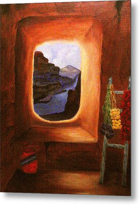 Room With A View Metal Print by Janis  Tafoya