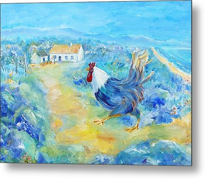 Rooster On Dingle Peninsula  Metal Print by Trudi Doyle
