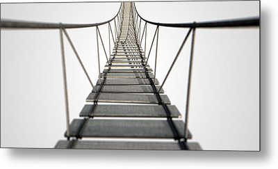 Rope Bridge Metal Print by Allan Swart