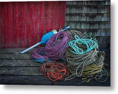 Ropes And Buoy Metal Print by Darylann Leonard Photography