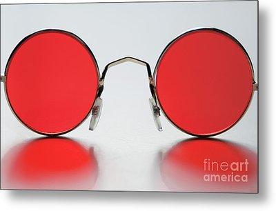 Rose Colored Glasses Metal Print by Dan Holm