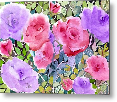 Rose Garden Metal Print by Neela Pushparaj