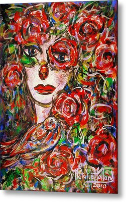 Rose Metal Print by Natalie Holland
