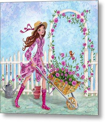 Roses For You Metal Print by Caroline Bonne-Muller