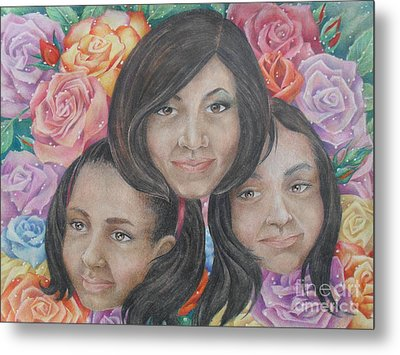 Roses In Bloom Metal Print by Charity Goodwin