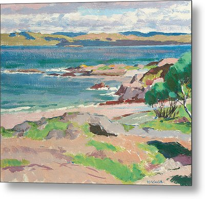 Ross Of Mull From Traigh Mhor Metal Print by Francis Campbell Boileau Cadell