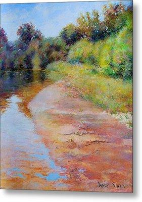 Rosy River Metal Print by Nancy Stutes