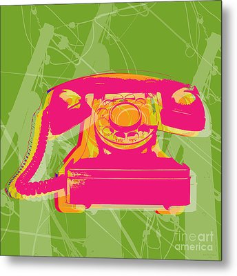Rotary Phone Metal Print by Jean luc Comperat