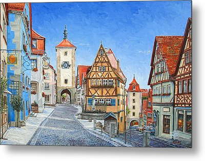 Rothenburg Germany Metal Print by Mike Rabe