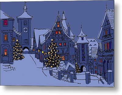 Rothenburg Ob Der Tauber Metal Print by Mary Helmreich