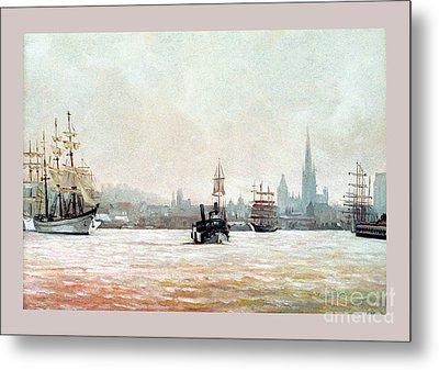 Rouen-tall Ships Metal Print by Caroline Beaumont