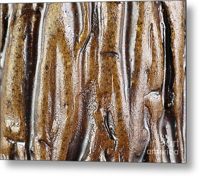 Rough Abstract Ceramic Surface Metal Print by Kerstin Ivarsson