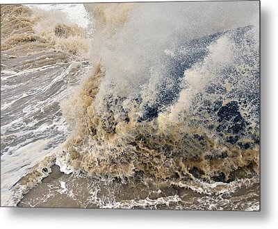 Rough Sea Metal Print by Barry Goble