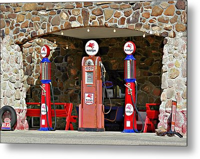 Route 66 - Cool Springs Camp Az Metal Print by Christine Till