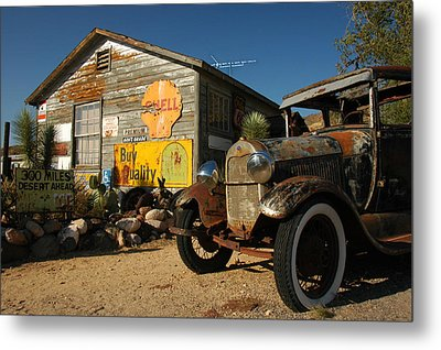 Route 66 Metal Print by Paul Van Baardwijk