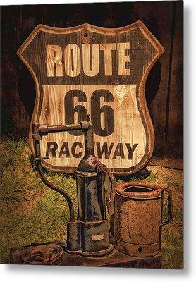 Route 66 Raceway Metal Print by Priscilla Burgers