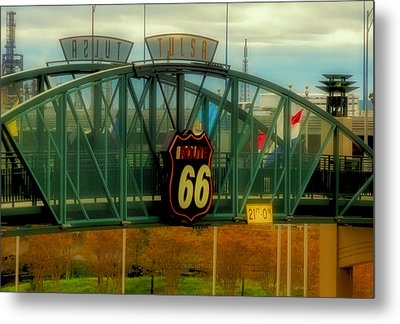 Route 66 Polaroid - Large Format - No Transfer Border Metal Print by Tony Grider