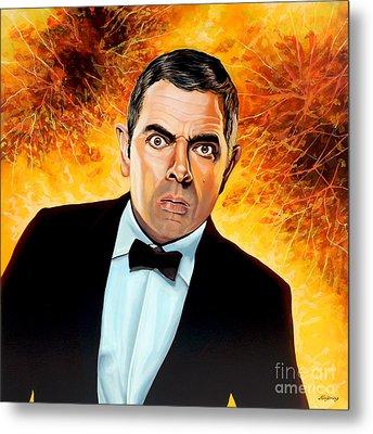 Rowan Atkinson Alias Johnny English Metal Print by Paul Meijering